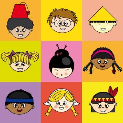 Image Niños de diferentes Etnias