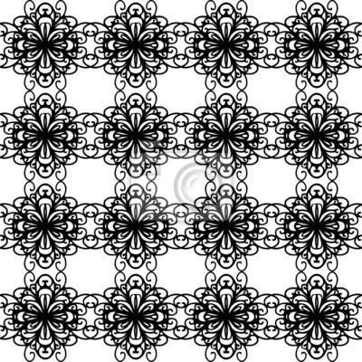 Noir et blanc abstraite, seamless floral