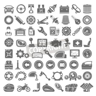 Image Noir, icônes, voiture, moto, Parties