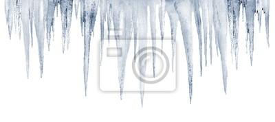 nombre de glaçons naturelles sur un fond blanc