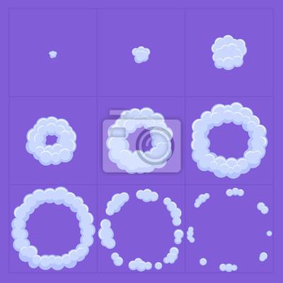 Image Nuage Animation Effet Dexplosion Conception De Jeu Cadres Danimation