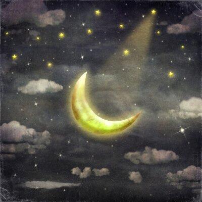 Nuit, temps, étoiles, lune