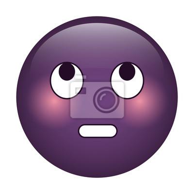 Emoticone Drole oeil rouler émoticône drôle icône vecteur illustration eps 10