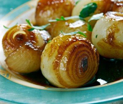 Image Oignons dans un vinaigre balsamique