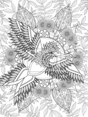 Image Oiseau Adulte Pour Colorier La Page