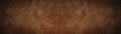 Image old brown rustic leather - background banner panorama long