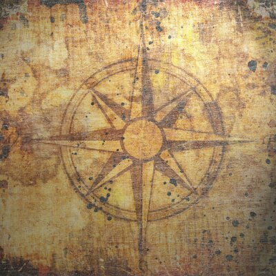 Image Old compass sur fond de papier