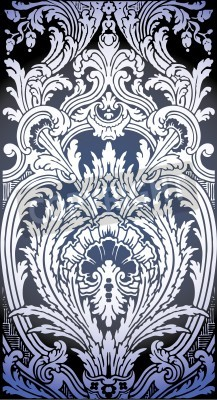 Image one patron of seamless pattern of Luis XIV bedroom