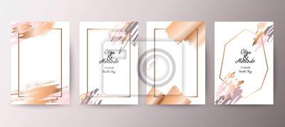 Image Or, brochure rose, flyer, invitation, carte