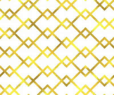 Image Or, vendange, feuille, géométrique, seamless, modèle, fond
