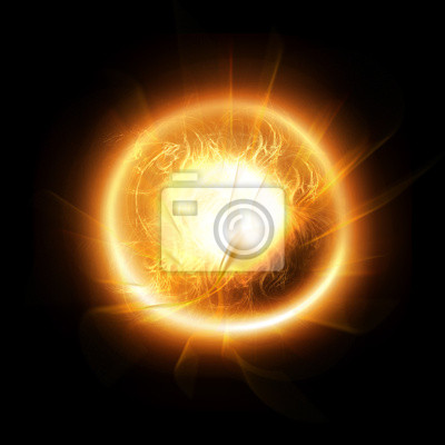 Orange soleil brûlant