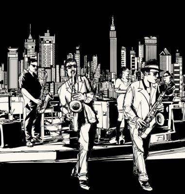 Image Orchestre de jazz jouant à New York