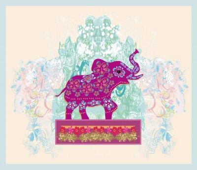Image Ornement vintage indien avec un éléphant