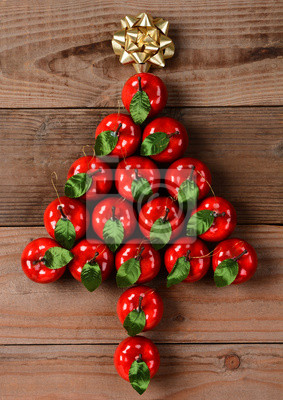 Ornements Apple en Forme d'arbre de Noël