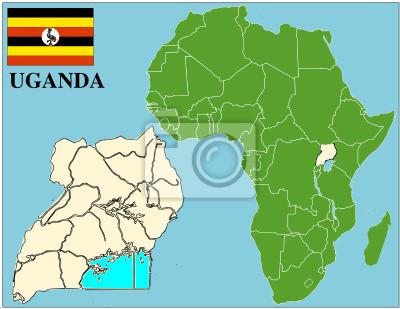 Carte Afrique Ouganda.Image Ouganda Embleme Carte Du Monde Afrique Du Succes De Lentreprise