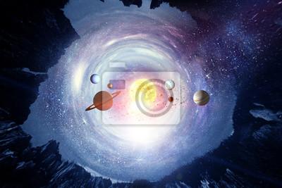 Our unique universe . Mixed media