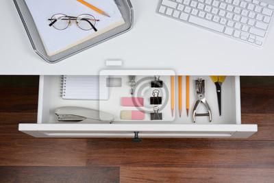 Ouvrir tiroir de bureau