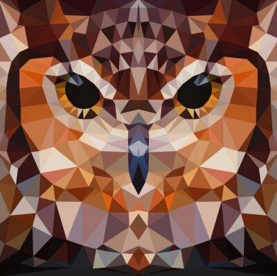 Image Owl tête vecteur illustration de fond géométrique