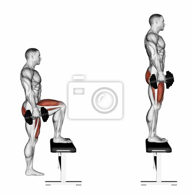 Pacing Avec Haltères Sur Le Banc Exercice Pour La Musculation