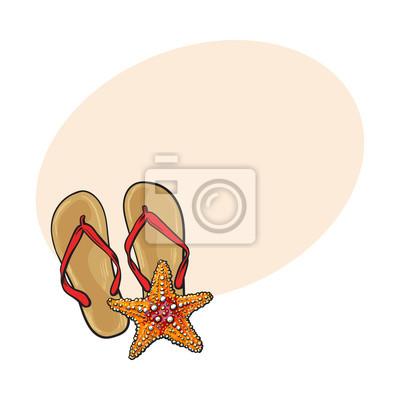 Image Paire De Bascules Et étoiles De Mer Symboles De Vacances De