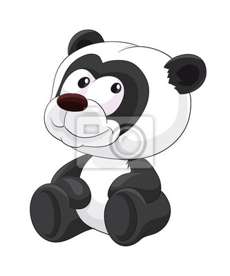 Panda De Dessin Anime Mignon Assis Panda Mignon Animal Dessin