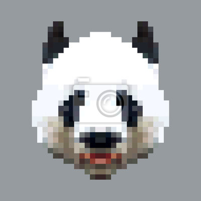 Dessin Pixel Art Panda Roux