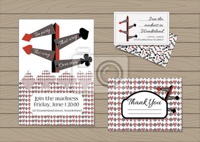 Image Panneaux De Signalisation Set Collection Carte Dinvitation Merci Note