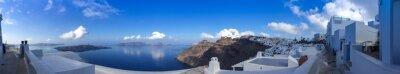 Image Panorama à Fira à Santorin, Cyclades les en Grèce
