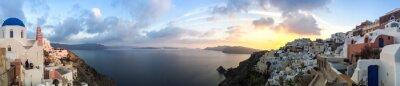 Image Panorama à Oia à Santorin, Cyclades les en Grèce
