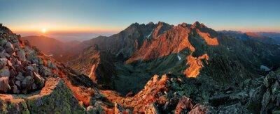 Image Panorama automne paysage de montagne