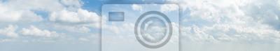 Image Panorama, blanc, nuage, bleu, ciel, matin