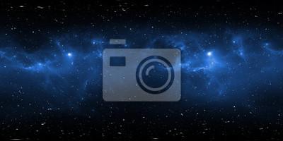 Image Panorama de la nébuleuse spatiale à 360 degrés, projection équirectangulaire, carte de l'environnement. Panorama sphérique HDRI. Fond de l'espace avec la nébuleuse et les étoiles