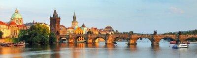 Image Panorama du pont Charles à Prague, République tchèque