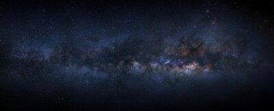 Image Panorama galaxie voie lactée avec des étoiles et de la poussière de l'espace dans l'univers