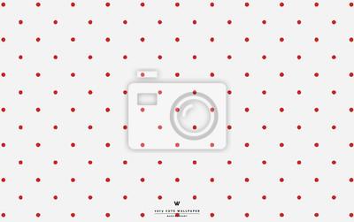 Image: Papier peint à pois blanc rouge