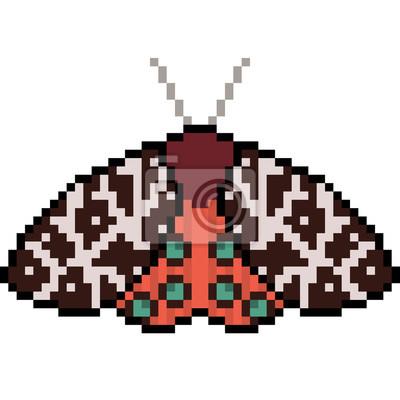 Image Papillon De Linsecte Vecteur Pixel Art