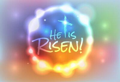 Image Pâques chrétienne Illustration Ressuscité