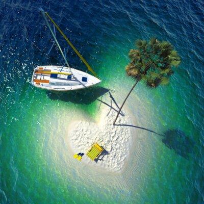 Image Paradis tropical sur une petite île