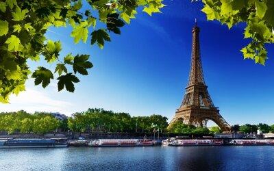 Image Paris eiffel france rivière arbres de plage
