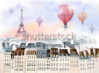 Image Paris en montgolfière