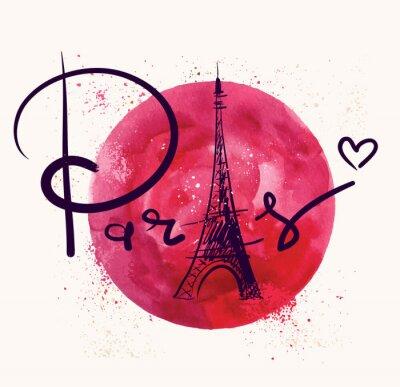 Image Paris et cercle rouge