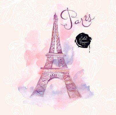 Image Paris. Vector illustration d'aquarelle