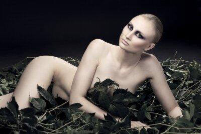 Image passionnée et sexy femme russe d'une belle figure