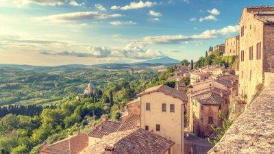 Image Paysage de la Toscane vu des murs de Montepulciano, je