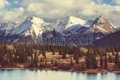 Image Paysage de montagne dans les montagnes Rocheuses du Colorado, Colorado, États-Unis.