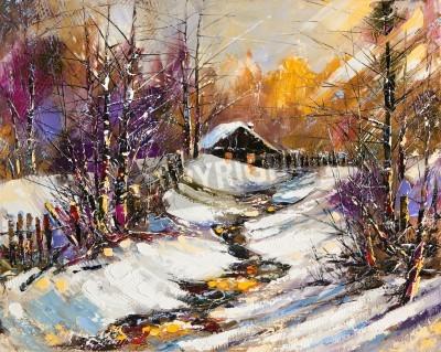 Image Paysage hivernal rural