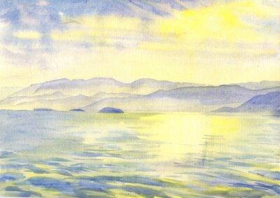 Image Paysage. La peinture à l'aquarelle