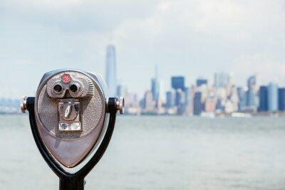 Image Paysage urbain de New York avec binoculaire