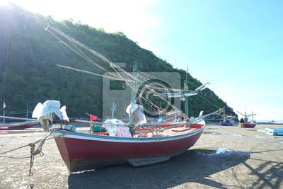 Pêche, bateau, Pranburi, plage, Thaïlande