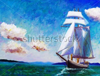 Image Peinture à l'huile - bateau à voile